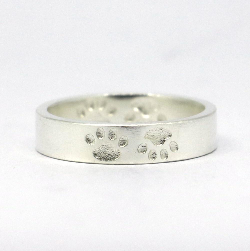 Anillo de pata de cabra de plata de ley 925 macizo, anillo de pata de - Bisutería - foto 4