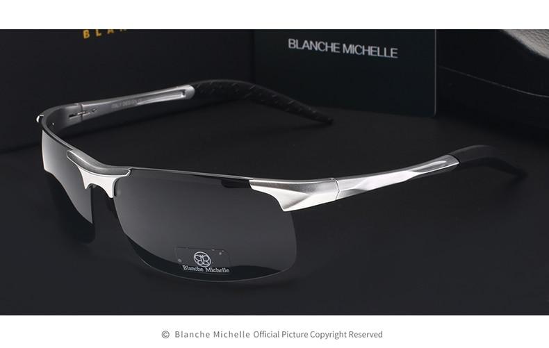 High Quality Ultra-light Aluminum Magnesium Sport Sunglasses Polarized Men UV400 Rectangle Gold Outdoor Driving Sun Glasses 9