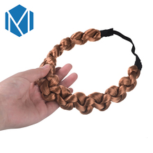 M MISM Woman Twisted Wig Hair Band for Girl Fashion Braided Scrunchy Elastic Hairband Party Accessories Lady Style Wedding 2017
