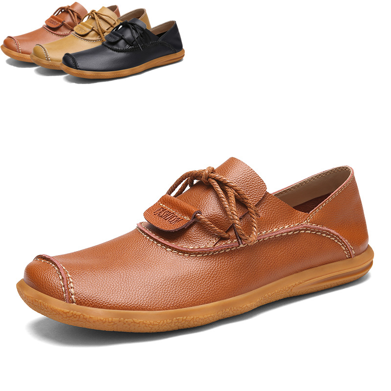 brown Cuir Occasionnels Souple Véritable brown yellow Fait 3 Hommes D'été 3 En Pour Yellow Main Mocassins brown 3 De Qualité 2 black black 2 Haute 2 black Chaussures Respirant yellow pzGqMSVU