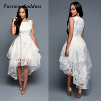 Party Women Princess Irregular Long Dress Peplum Three Layer Low High Pin Up Elegant Long Dress White Dress Wedding Gowns Prom