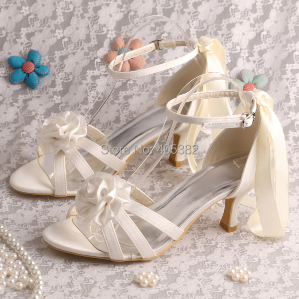 ФОТО Custom Handmade Free/Drop Shipping Royal Blue Bridal Shoes Sandals Low Heels Ladies with Satin Lace up
