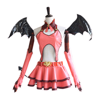 Hot Anime VOCALOID Cosplay Hatsune Miku Cos Halloween Party Club Heart Hunter Cos Female Devil Costume
