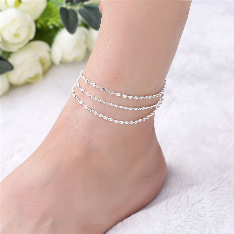 Jewelry Sets & More Jewelry & Accessories Hot Sale Cadena Para Pie Alloy Leaf Leaves Tassel Anklets Simple Bohemia Foot Bracelet Ankle Chain Bijoux De Pied Christmas Gift