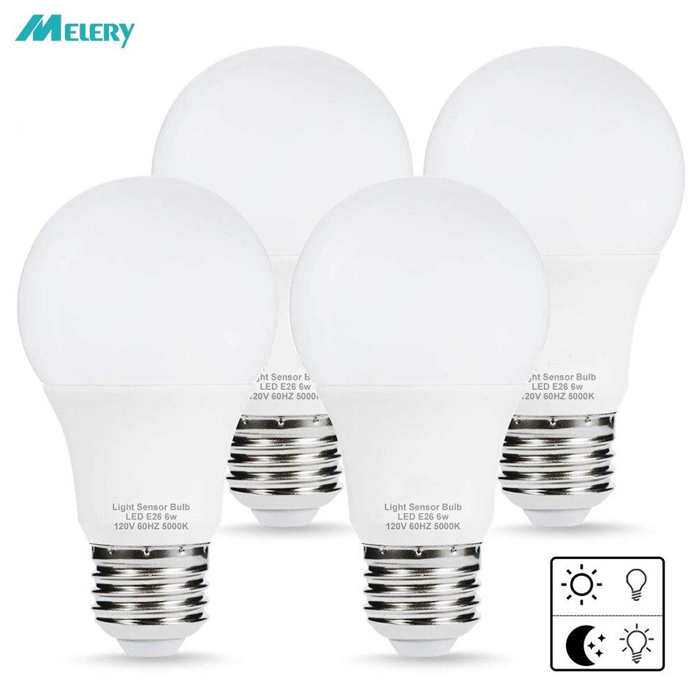 Dusk To Dawn Porch Light Bulb: LED Sensor Light Bulb Porch Light Dusk To Dawn A19 6W