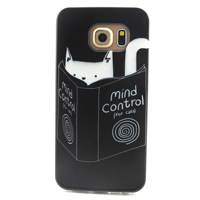 wholesale dealer 9b1e6 6a24f US $1.69 |For Samsung S6 edge Case, Funny Design Soft Silicon black Cover  for Samsung Galaxy S6 Edge Scratchproof Mobile Phone Case on Aliexpress.com  ...