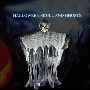 Ужасный подвесной Череп Призрак Хэллоуин украшение для вечеринки дом с привидениями E2S