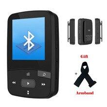 Original RUIZU X50 Mini Sport Clip Bluetooth mp3 player 8GB music player Support TF Card, FM Radio, Recording, E-book,Stopwatch
