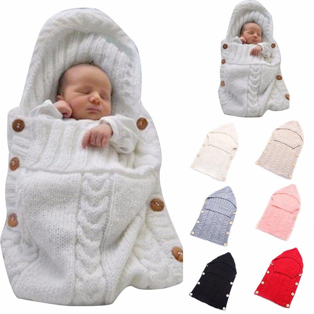 Puseky 0-12 м для новорожденных Обёрточная бумага для пеленания Одеяло Детская шерстяная одежда для малышей вязать Одеяло пеленать ребенка спальный мешок сна Sack коляска Обёрточная бумага