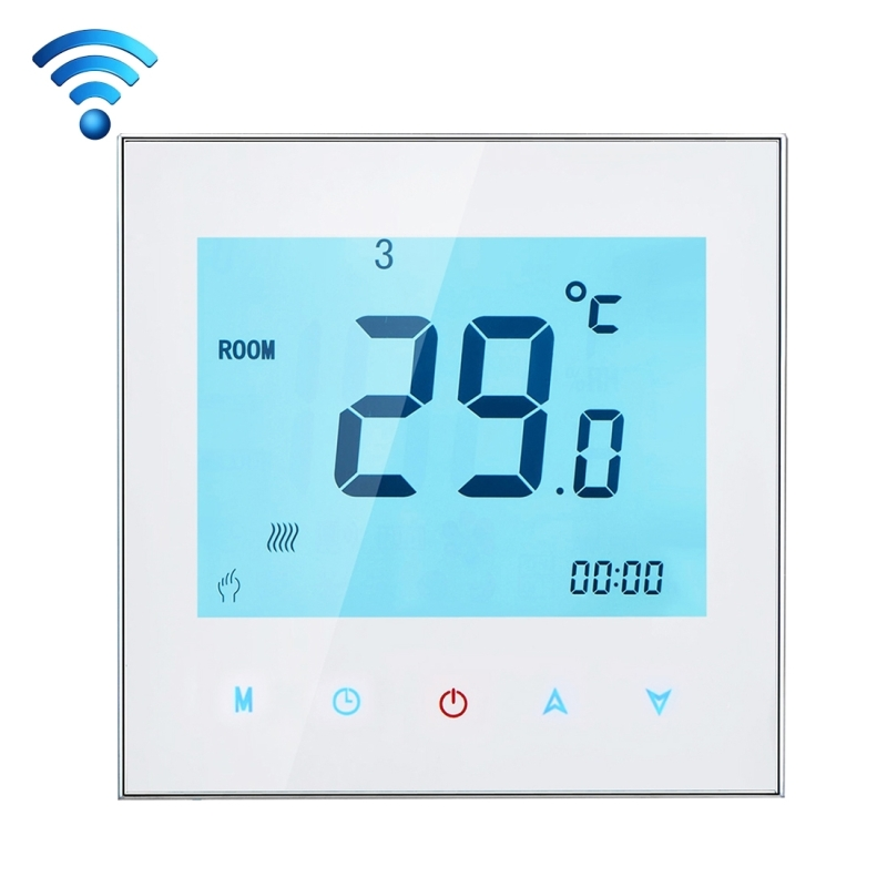 220V3A Phone Remote Controller Touchscreen LCD Display WIFI Programmable Thermostat Computer APP Room Floor Heating Temperature wireless rf plug in lcd remote thermostat for home room heating and cooling temperature controller 20m