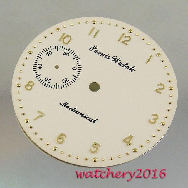 """חדש 38.9 מ""""מ צהוב לבן חיוג רוז זהב fit 6497 תנועת גברים של שעון חיוג"""