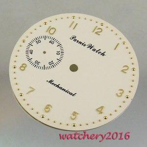 Image 1 - Мужские часы с желтым, белым циферблатом, цифрами 38,9 мм, 6497