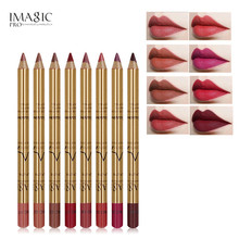 IMAGIC 2018 New Matte Lipliner Set Makeup Waterproof 3D Contour Lips Pigment Red Lipstick Lip Liner Pencil Women Beauty Tool