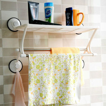 Strong absorption of single double pole bath kitchen stainless steel double pole towel rack receive frame