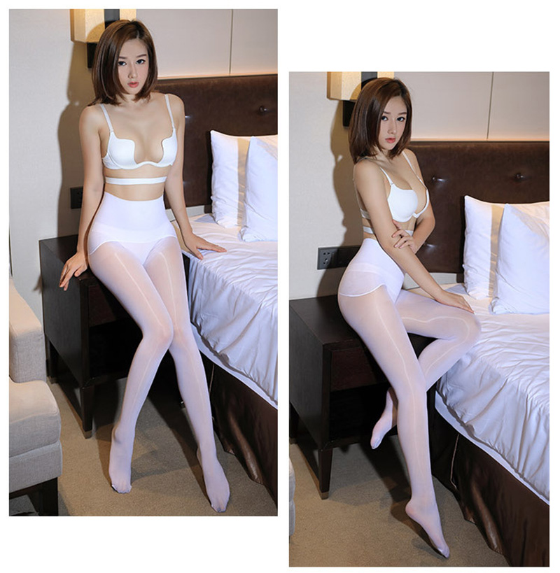 Smoothly Magic High Waist Pantyhose, Shiny Than Oil Glossy 8D Ultrathin Seamless Crotch Tights Transparent 26