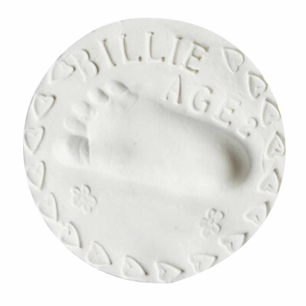 เด็ก Air Drying Soft Antistress Putty ดิน Handprint รอยเท้าพิมพ์ลายนิ้วมือ 50g DIY Clear Slime ของเล่น Dropshipping