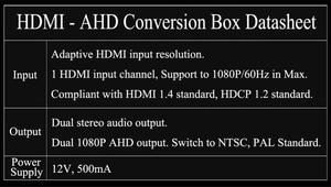 Image 5 - Boîtier de convertisseur HDMI à 1080 P AHD, double sortie AHD 1080 P et double sortie Audio stéréo