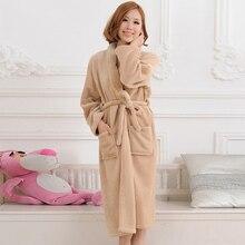 2016 Autumn Winter Bathrobes For Women Men Lady's Long Sleeve Flannel Robe Female Male Sleepwear Lounges Homewear pyjamas