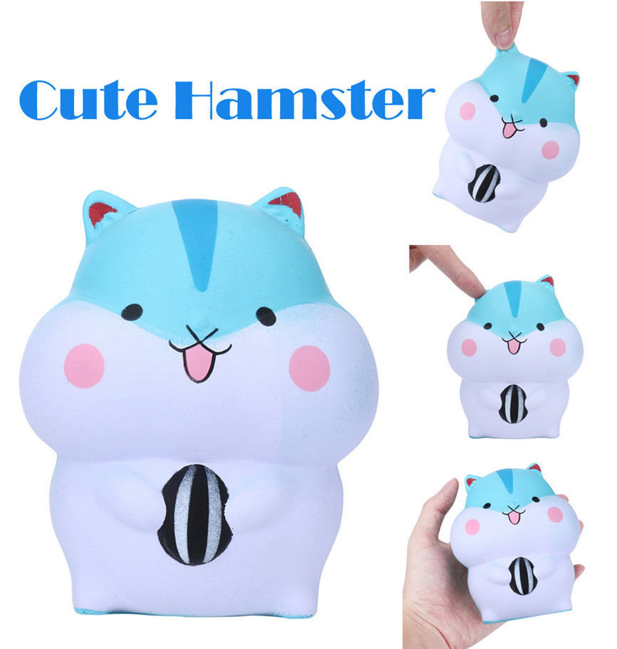 Super Cute Hamster Slow Rising Collection Squeeze Stress Reliever Toy 9* 9*11cm Dropshipping May#5
