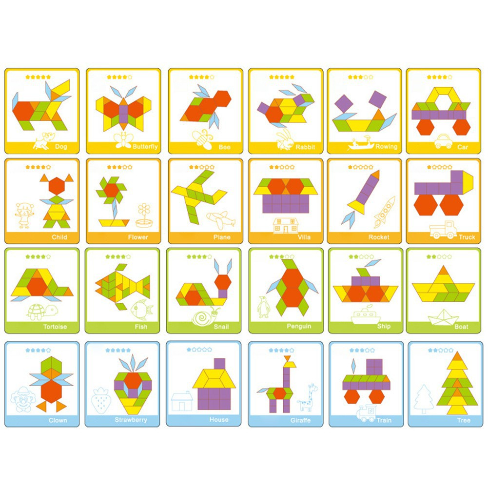 130 Pcs Early Childhood Education Innovative Changeable Amazing Card Puzzles Jigsaw Puzzles for Kids WoodenToys for Children in Puzzles from Toys Hobbies