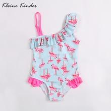 kids swimwear for girls 1 piece flamingo girl child swimsuit one shoulder children bikini beach bathing clothes swimming suit