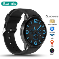 itormis Bluetooth Android 5.1 Smart Watch Smartwatch SIM Card Phone Watch with MTK6580 Quad core Rom16G+Ram1G GPS Wifi Camera