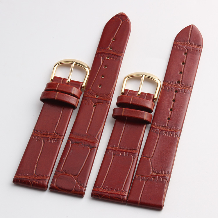 Wholesale !Quartz Watch Strap Band polished gold  Buckle New Arrival  Brown watchband bracelet 20mm 2pcs free shipping free shipping wholesale black brown perlon strap braided watch strap 20mm watchband with buckle