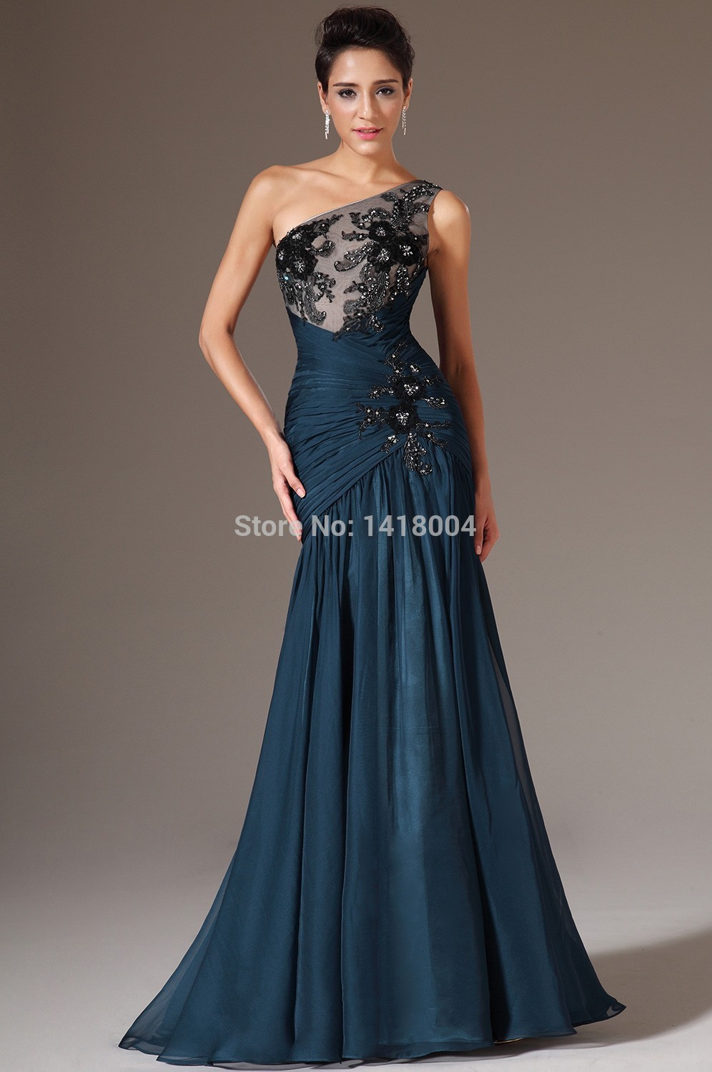 Aliexpress.com : Buy New Arrival Mermaid One Shoulder Prom Gowns ...