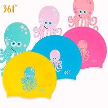 361 Children Swimming Cap Silicone Kids Caps for Pool Waterproof Ear Protection Boys Girls Cartoon Swim Hat