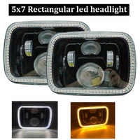 5x7 inch projector led headlight halo For Jeep Wrangler GMC Savana Safari Ford Chevrolet Replacement H6014 H6052 H6054 Headlamp