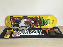 Skate Board Complete Set Union Deck Trucks & Wheels Toy Machine Bearings Plus Hardware Set Riser Pad & Installing Tool