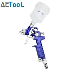 Image 5 - AETool 0.8/1.0mm Nozzle Professional HVLP Spray Guns Sprayer Paint Airbrush Mini Spray Gun for Painting Cars Aerograph Tool