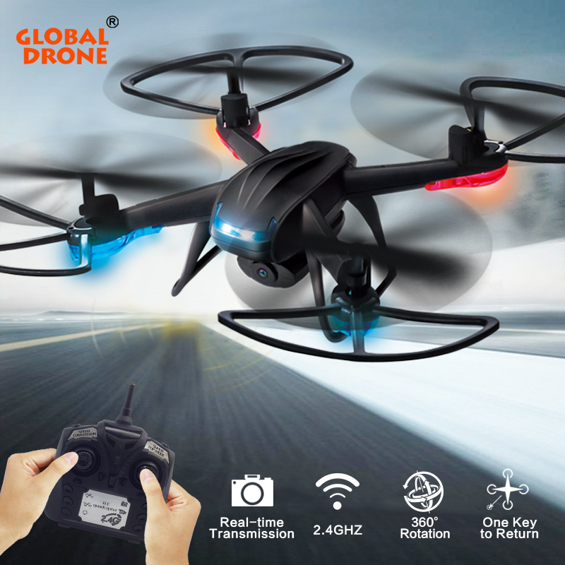 Global Drone GW007-2 RC Quadcopter With Camera HD 720P 2.4GHz 6CH 6 Axis Gyro LED Lights RC Helicopter VS JJRC H33 mini rc drone 2 in 1 transformable rc quadcopter car rtf 2 4ghz 6ch 6 axis gyro helicopter multi functional outdoor toys