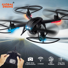 Global Drone GW007-2 RC Quadcopter With Camera HD 720P 2.4GHz 6CH 6 Axis Gyro LED Lights RC Helicopter VS JJRC H33