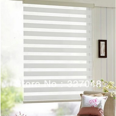 FREE SHIPPING Popular Zebra Blinds/double Layer Roller Blinds/ready Made  Curtain/