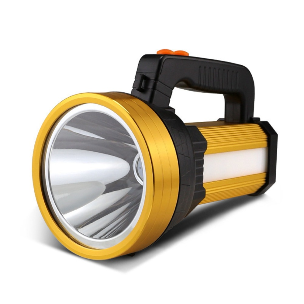 Handheld LED Spotlight Super Bright Rechargeable Led Spotlights With Side Light 6 Light Model Searchlight IPX4 Waterproof Torch