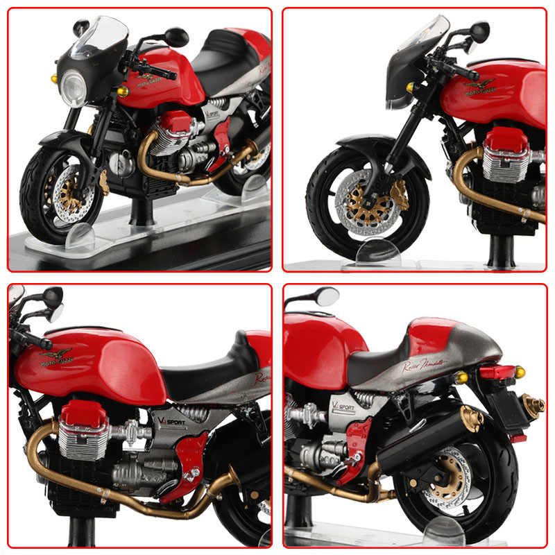 1:22 Alloy Sepeda Motor Model Mainan Balap Motor Dunia Olahraga Sepeda Motor GT Norge California 850 Koleksi Mobil Mainan untuk Anak-anak