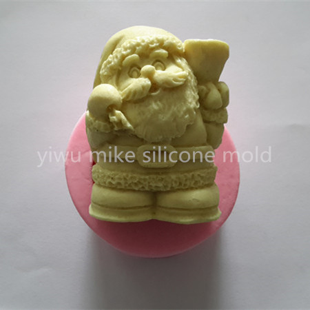 factory shop ,Father Christmas design cake silicone fondant mold for cake decorating tools mk-459