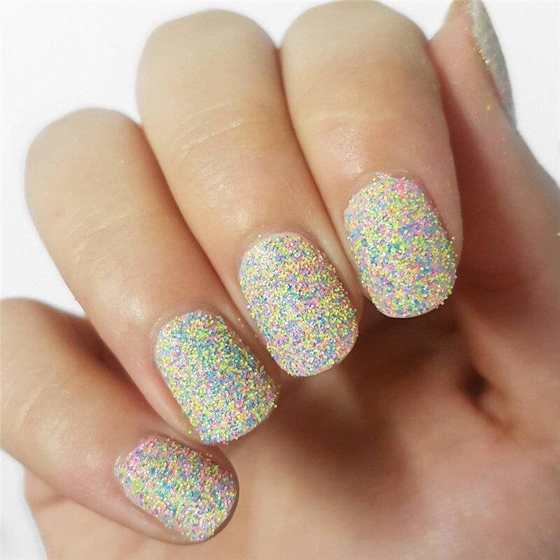 1 Box Candy Sugar Mixed Nail Glitter Powder 3g Manicure Nail Art ...