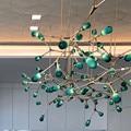 Moderne Molekulare Led lampe Zweige Anhänger Lichter Moderne 7 Köpfe Grün G Suspension Lampe Für Wohnzimmer Hause beleuchtung H027