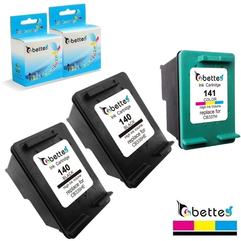 Bette Ink Cartridges Replace for <font><b>HP</b></font> <font><b>140</b></font> <font><b>141</b></font> Officejet J6415 J6424 J6450 J6480 J6488 Deskjet D4245 D4260 D4268 D4360 D4363 D4368 image