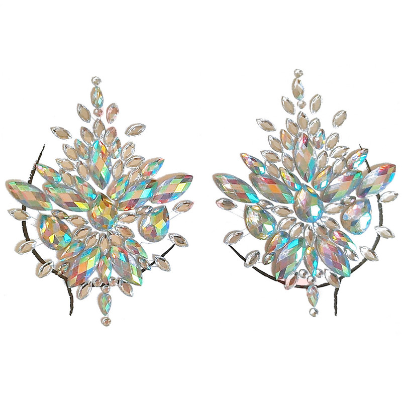 6ac8f0f46f US $1.13 Adhesive Sticky Gems Sticker Makeup Face Boob Jewel Crystal ...