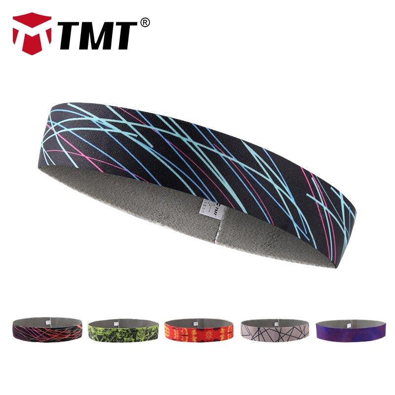 TMT Sport Headband Men Women Head Sweat Band Running Biking Football Tennis Headscarf Silicone Anti-slip Elastic Hair Sweatband
