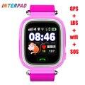 Nova interpad it09 smart watch crianças crianças rastreador gps inteligente bebê relógio Anti-Perdida Criança Guarda Para iOS Android PK q750 q90 q50
