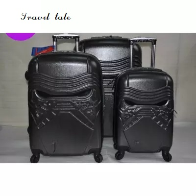Travel tale ABS PC 19 24 inch Cartoon Star Wars Rolling Luggage Spinner brand High quality