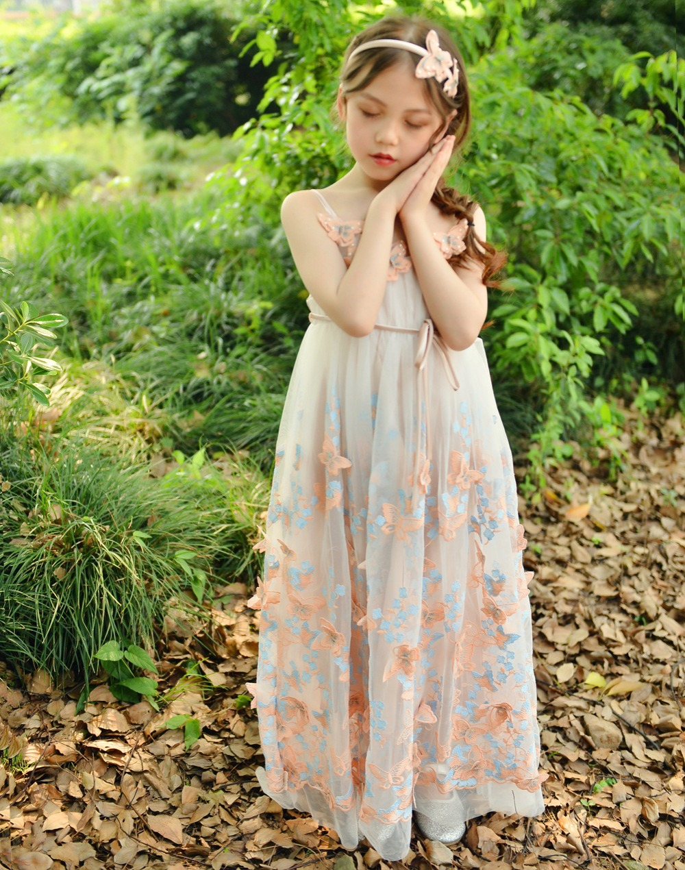 Wedding girls Boutique floral dress Princess birthday party elegant dress Child summer slip dancing dress Kids wear [Yelaumoky] whitesnake live in the still of the night