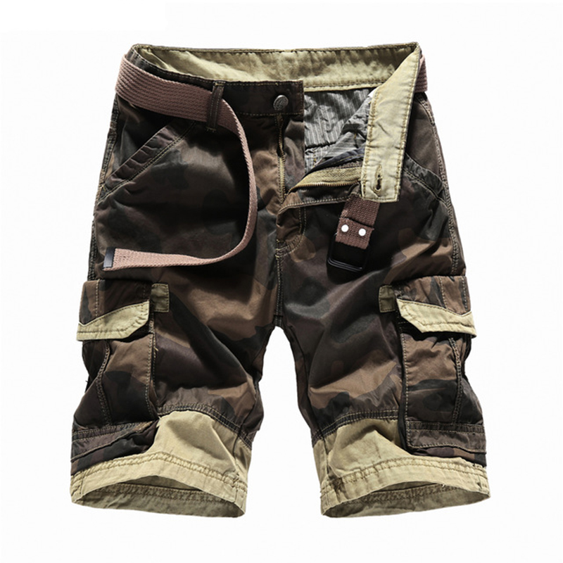 Summer Shorts Men 2018 Camouflage Casual Cotton Short Pants Military Trousers Pockets Bermuda Cargo Shorts
