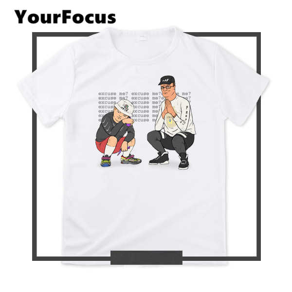 d9ce2eb2c2f New summer hiphop fashion cute spoof American cartoon King of the Hill print  t shirt plus