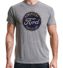 Powered By Ford American Retro Classic Car Print Sport Grey T-Shirt Harajuku Tops t shirt Fashion Unique free shipping