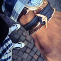 Ancla pulseras y brazaletes de los hombres pulsera del encanto pulsera de cuero genuino pulseras brazalete de joyería de acero titanium inoxidable accesorios masculinos